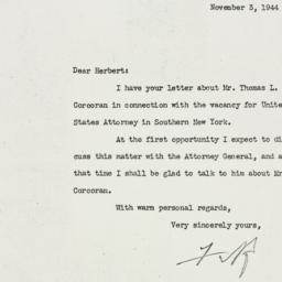 Letter: 1944 November 3