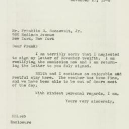 Letter : 1946 November 27