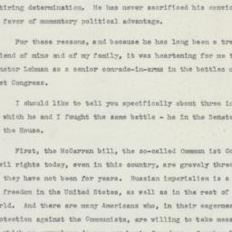 Speech : 1950 October 18