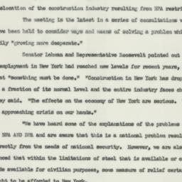 Press release : 1952 Januar...