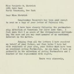 Letter : 1954 February 18