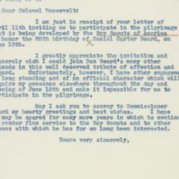 Letter : 1938 April 18
