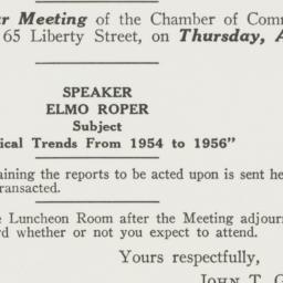 Invitation : 1955 March 30