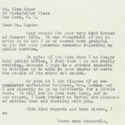 Letter : 1957 January 18