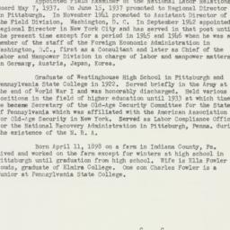 Ephemera : 1952 February 27