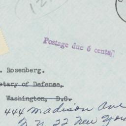Envelope : 1954 October 12