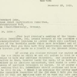 Letter : 1925 December 28