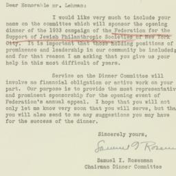 Letter : 1933 September 6