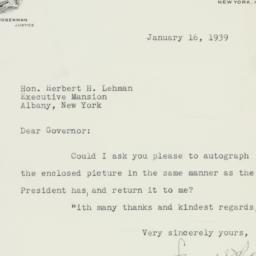 Letter : 1939 January 16