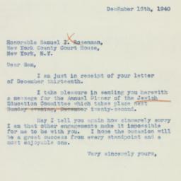Letter : 1940 December 16