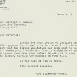 Letter : 1941 December 5