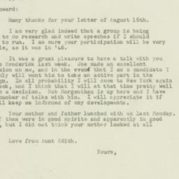 Letter : 1949 August 18