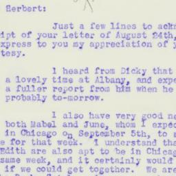 Letter : 1933 August 28