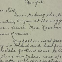 Letter : 1935 February 8