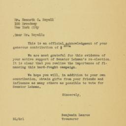 Letter : 1950 November 4