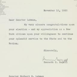 Letter : 1950 November 15