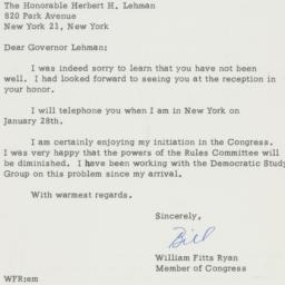 Letter : 1961 January 21