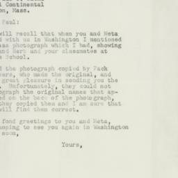 Letter : 1954 May 15