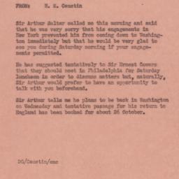 Memorandum : 1944 October 12