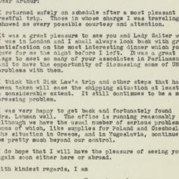Letter : 1945 January 18