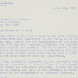 Letter : 1939 June 30