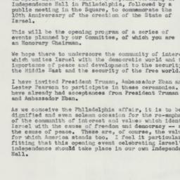 Letter : 1958 February 6