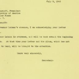 Letter : 1945 July 9