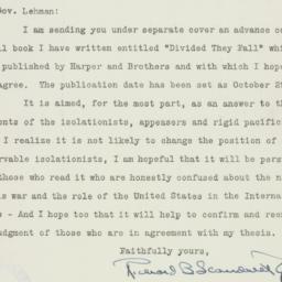 Letter : 1941 October 16