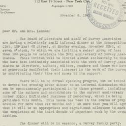 Letter : 1942 November 6