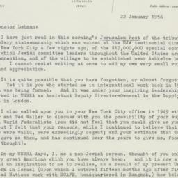 Letter : 1956 January 22