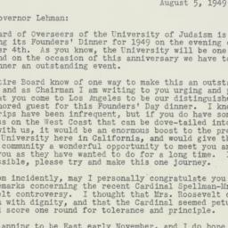 Letter : 1949 August 5