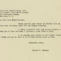 Letter : 1932 October 24