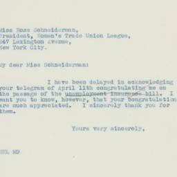 Letter : 1935 May 1