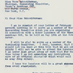 Letter : 1942 February 10