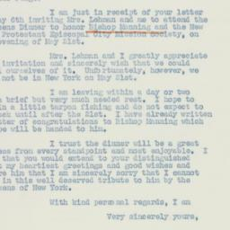 Letter : 1941 May 9