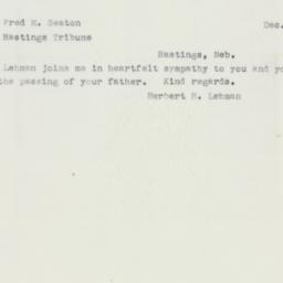 Letter : 1952 December 5