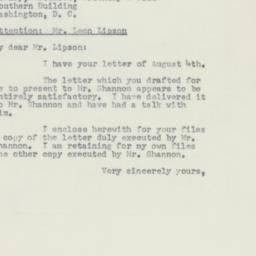 Letter : 1953 August 5