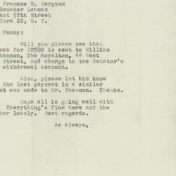 Letter : 1953 November 23