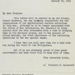 Letter : 1945 January 20