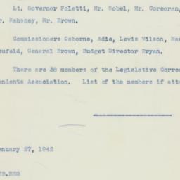 Memorandum : 1942 January 27
