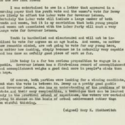 Letter : 1938 October 10