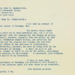 Letter: 1932 November 5