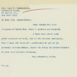 Letter: 1933 March 13