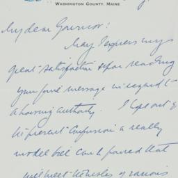 Letter : 1933 August 10