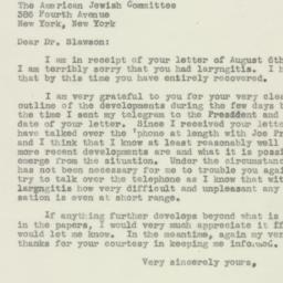 Letter : 1946 August 14