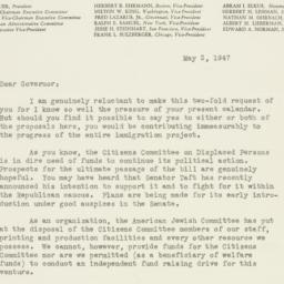 Letter : 1947 May 2