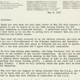 Letter : 1947 May 8
