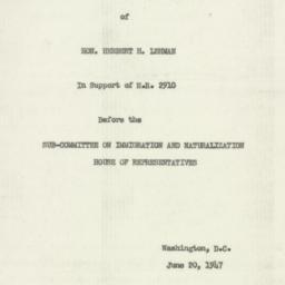 Manuscript : 1947 June 20