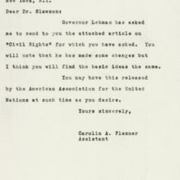 Letter : 1948 February 26