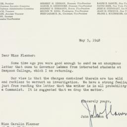 Letter : 1948 May 5